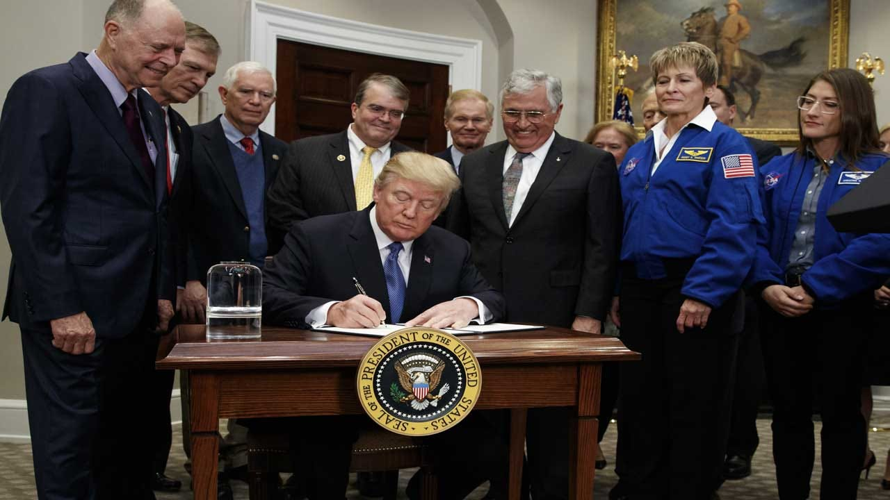 Trump Signs New Space Policy Directive To Send Americans To Moon, Mars