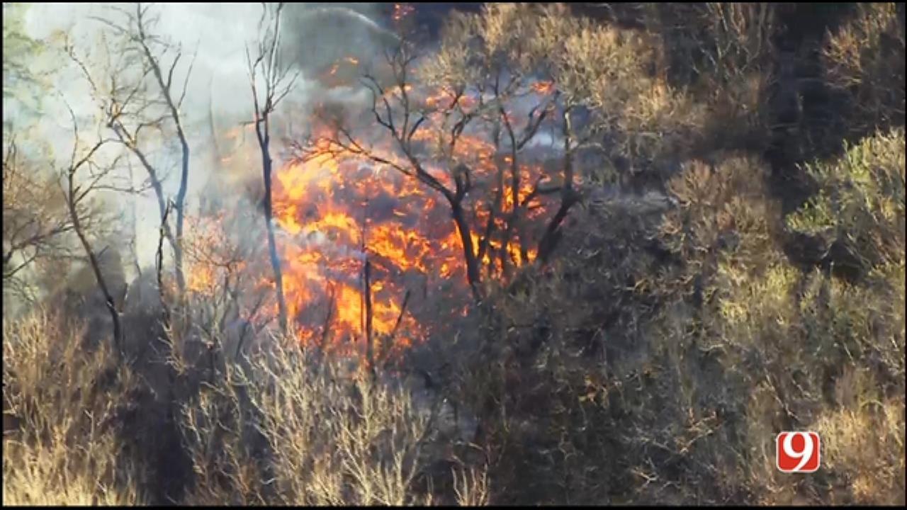 Crews Battle Small Grass Fire Near Guthrie