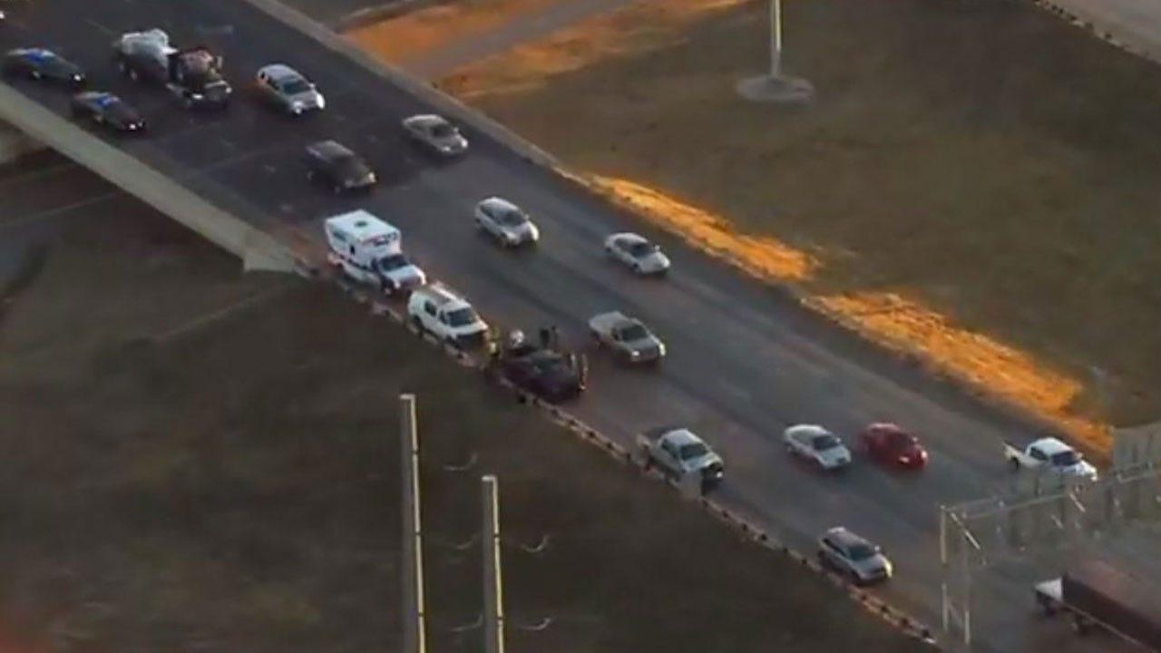Injury Crash Shuts Down EB I-44 Near I-40 In SW OKC