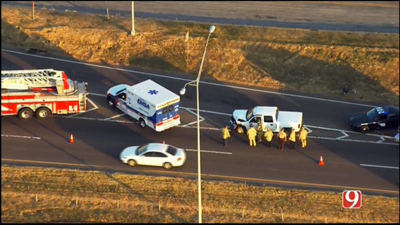 Emergency Crews Respond To Multi-Vehicle Crash On I-35