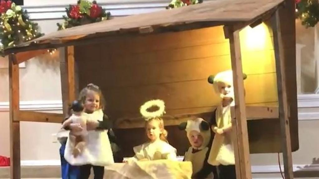 Adorable Video: Sheep Steals Baby Jesus From Nativity Scene