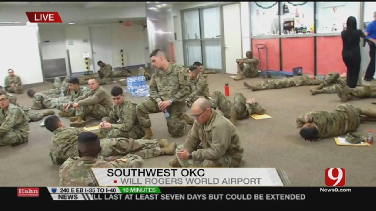 Soldiers Travel Through WRWA To Go Home For The Holidays