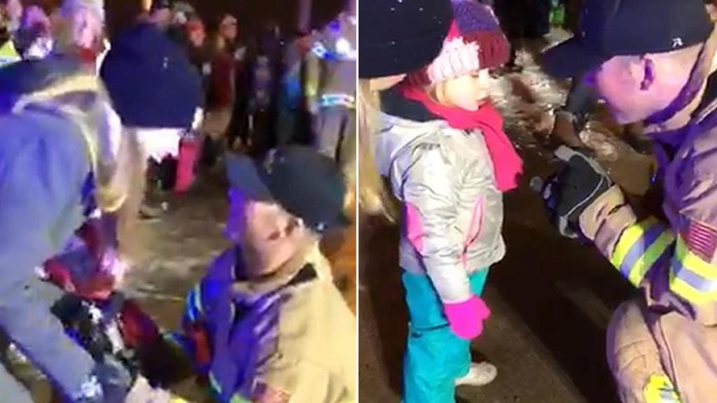 Fireman Stops Parade To Propose To Girlfriend, Her Daughter