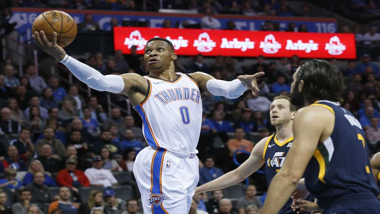 Westbrook Scores 24, Leads Thunder To 107-79 Win Over Jazz