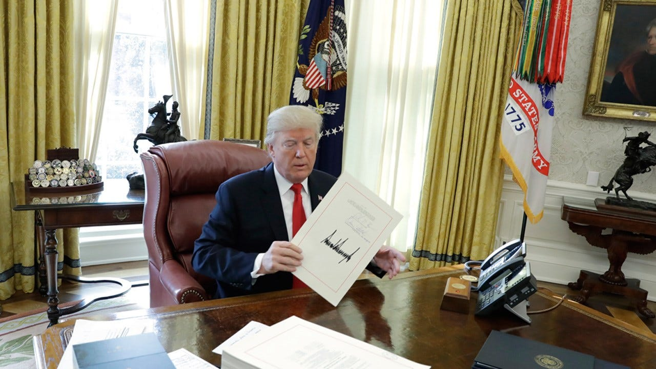 """President Trump Signs Tax Bill, Predicts """"Tremendous Democrat Support"""" On Infrastructure"""