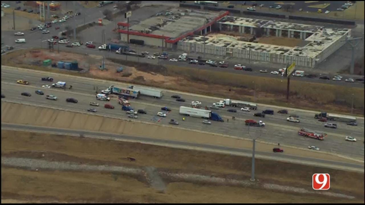 Crashes Involving Semis On I-40 Snarls Traffic West Of Downtown