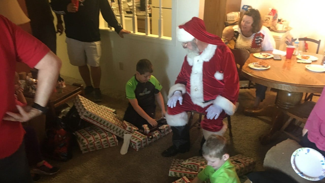 Del City Police Provide Christmas For Grandmother Raising Grandsons