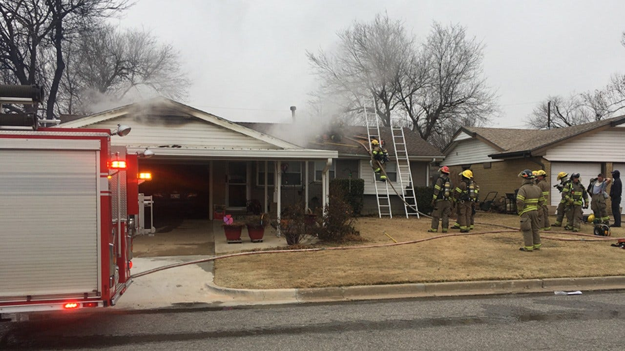 Crews Respond To House Fire In Moore