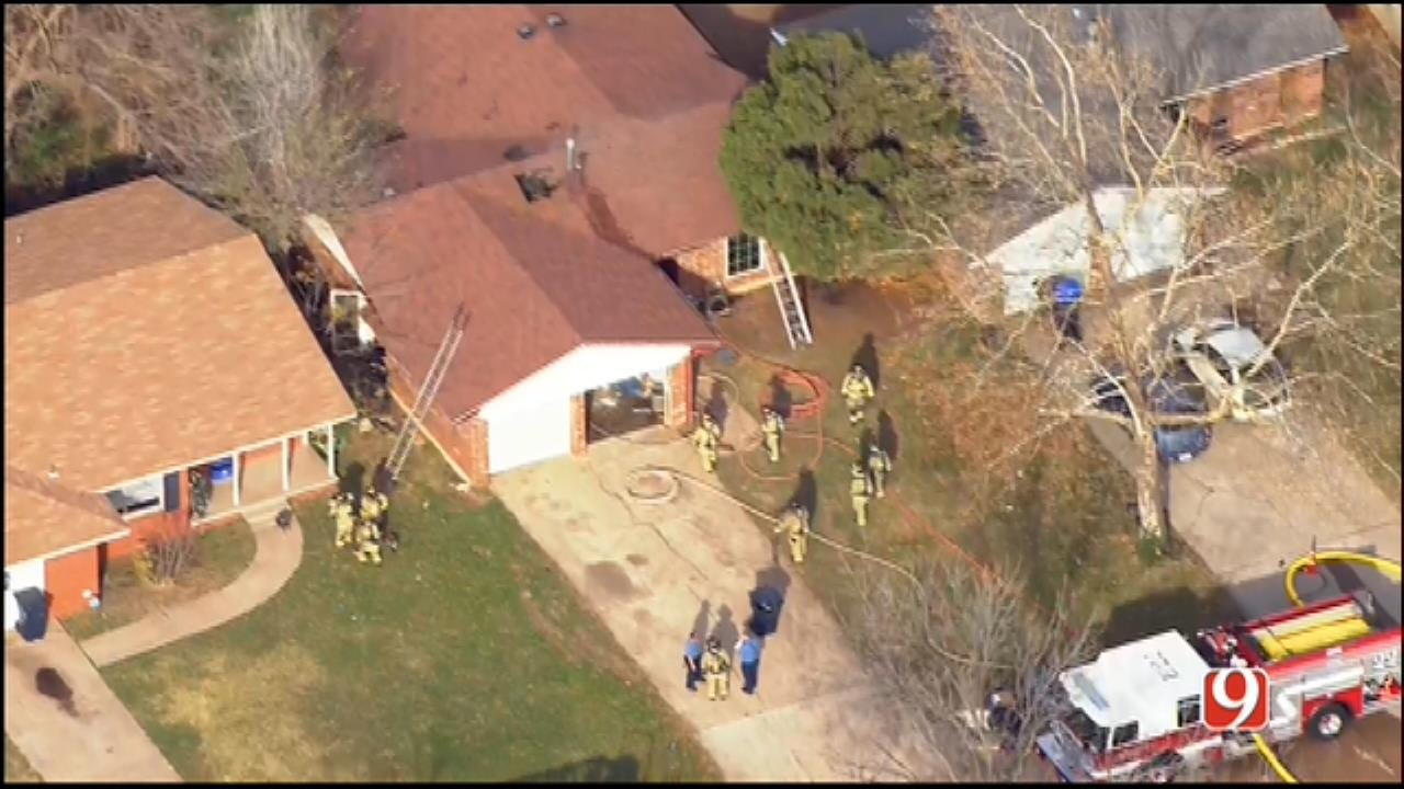 Crews Douse A House Fire In NW OKC