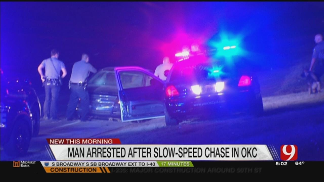 Overnight Police Chase Prompts Arrest In NW OKC