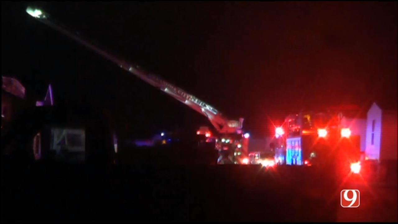 Crews Battle Trailer Home Fire In SE OKC