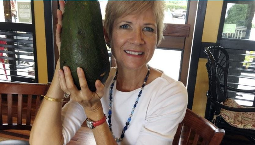 Hawaii Woman Seeks Record For Huge Avocado