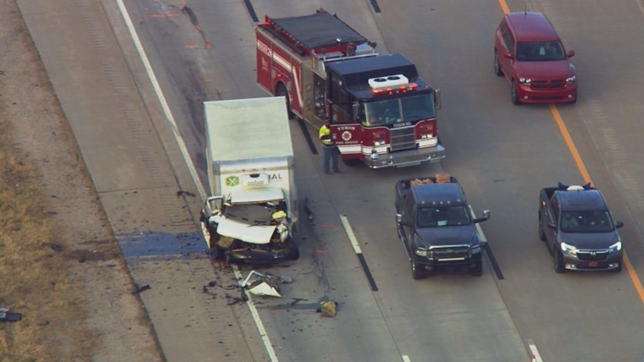 Crash Kills One Driver On I-40 Near Yukon