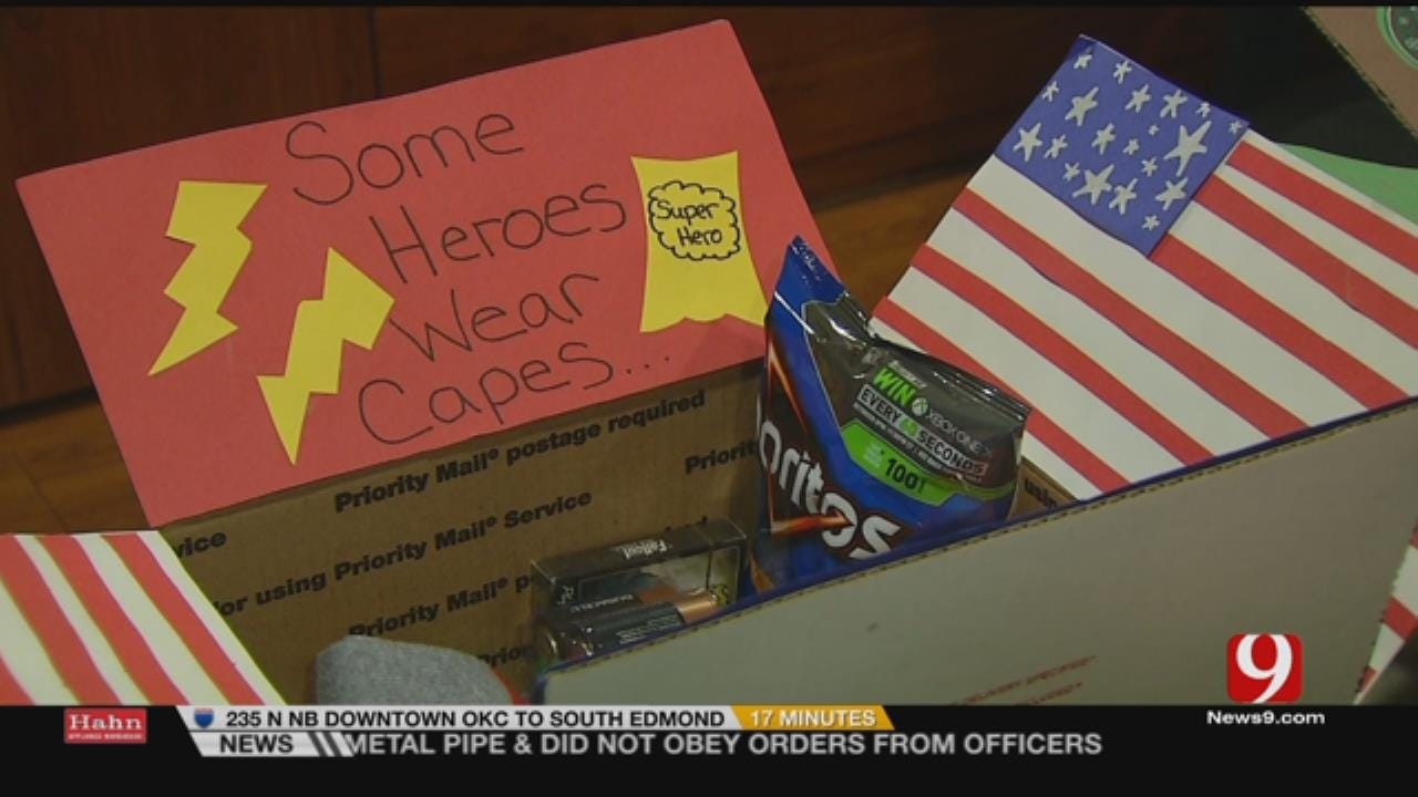 OKC Preschoolers Give Back To Servicemen During Holidays