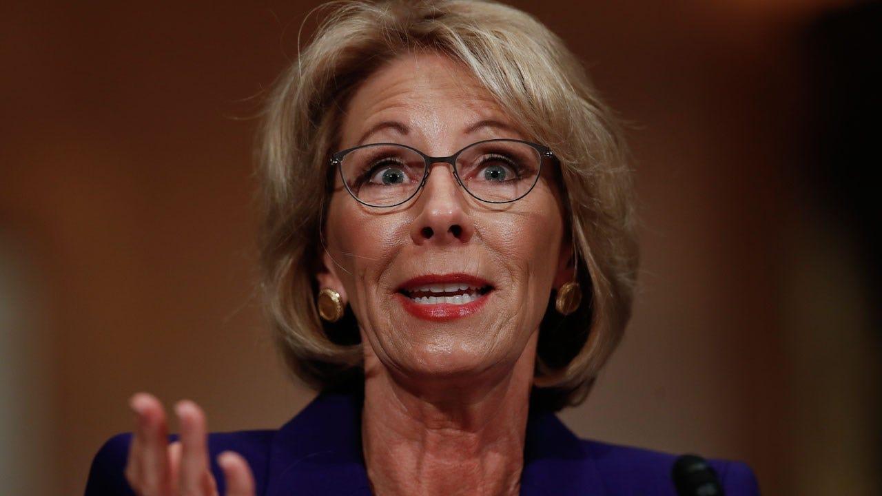 Education Secretary Betsy DeVos Blocked By Protesters From Entering School