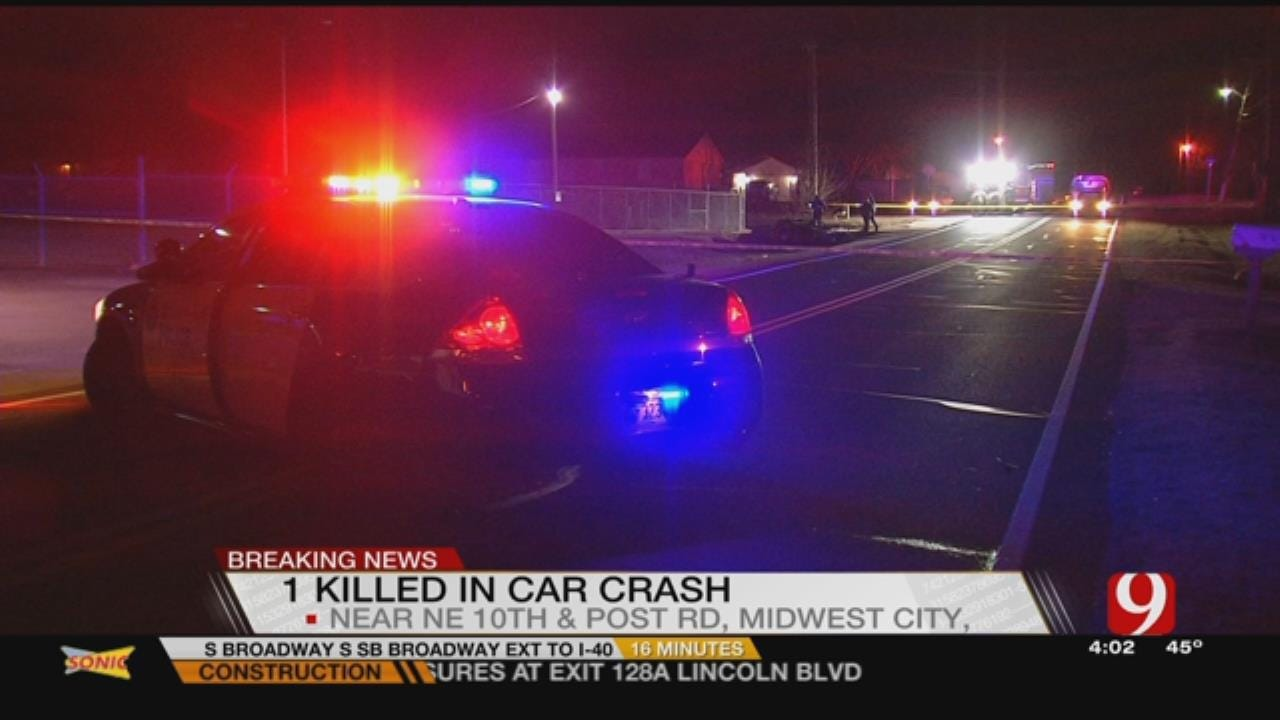 Late Night Car Crash In Midwest City Becomes Fatal