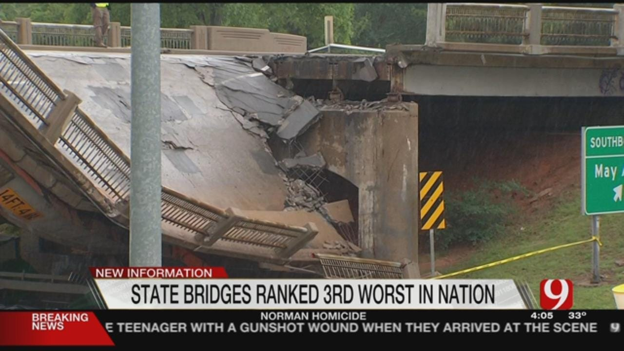 New Report Ranks OK With Third Worst Bridges In The US