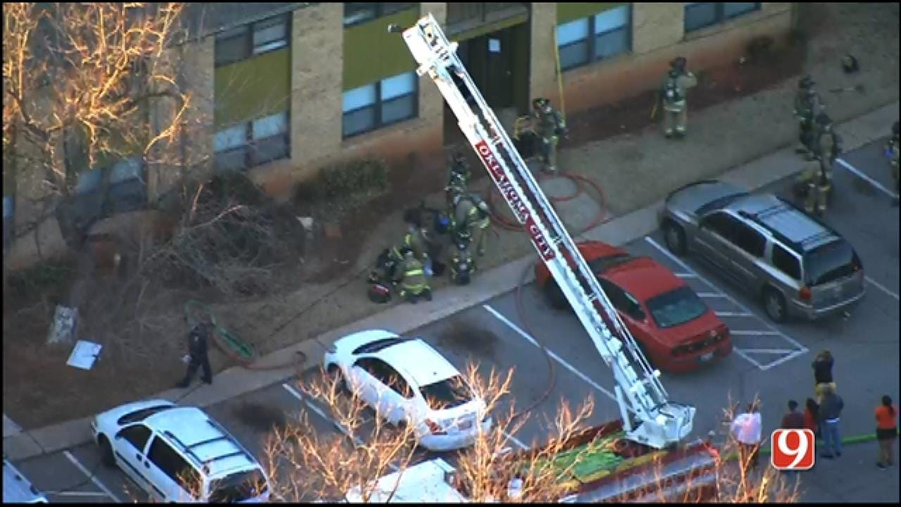 One Injured After Fire Breaks Out At NW OKC Apartment