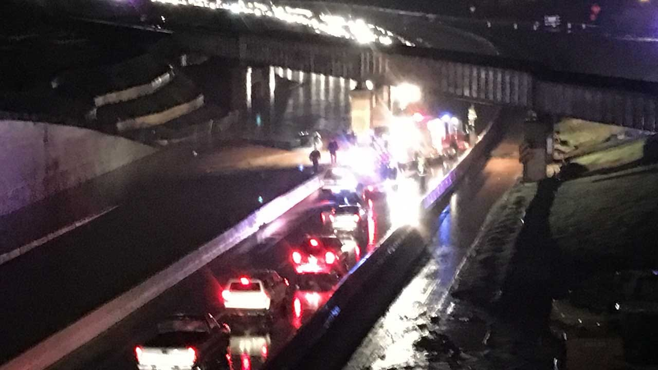 All Lanes Of I-235 Reopen After Rains Force Sunday Night Shutdown