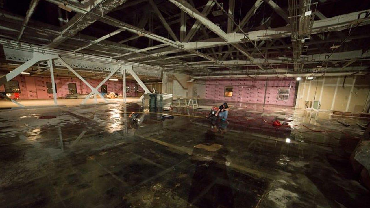 Sunday Rains Cause Memorial Museum To Flood
