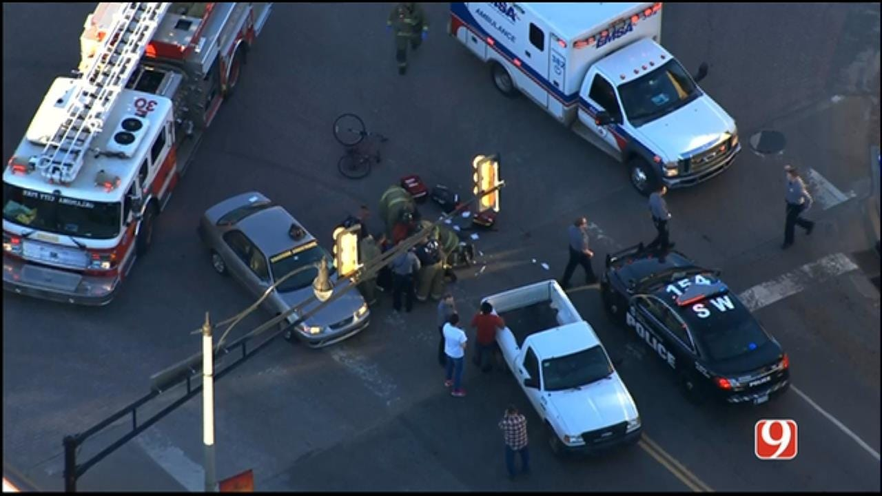 Bicyclist Injured After Being Struck By Car Near Stockyard City In OKC