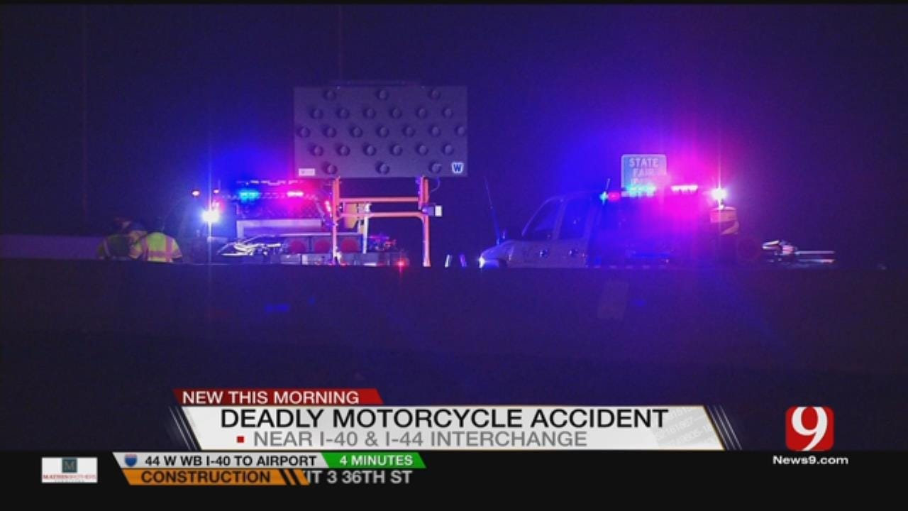 Motorcyclist Dies After Falling Off Bridge, Getting Hit By Car In OKC