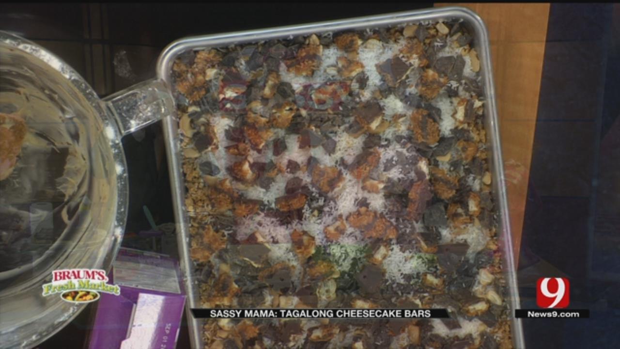 Tagalong Cheesecake Bars