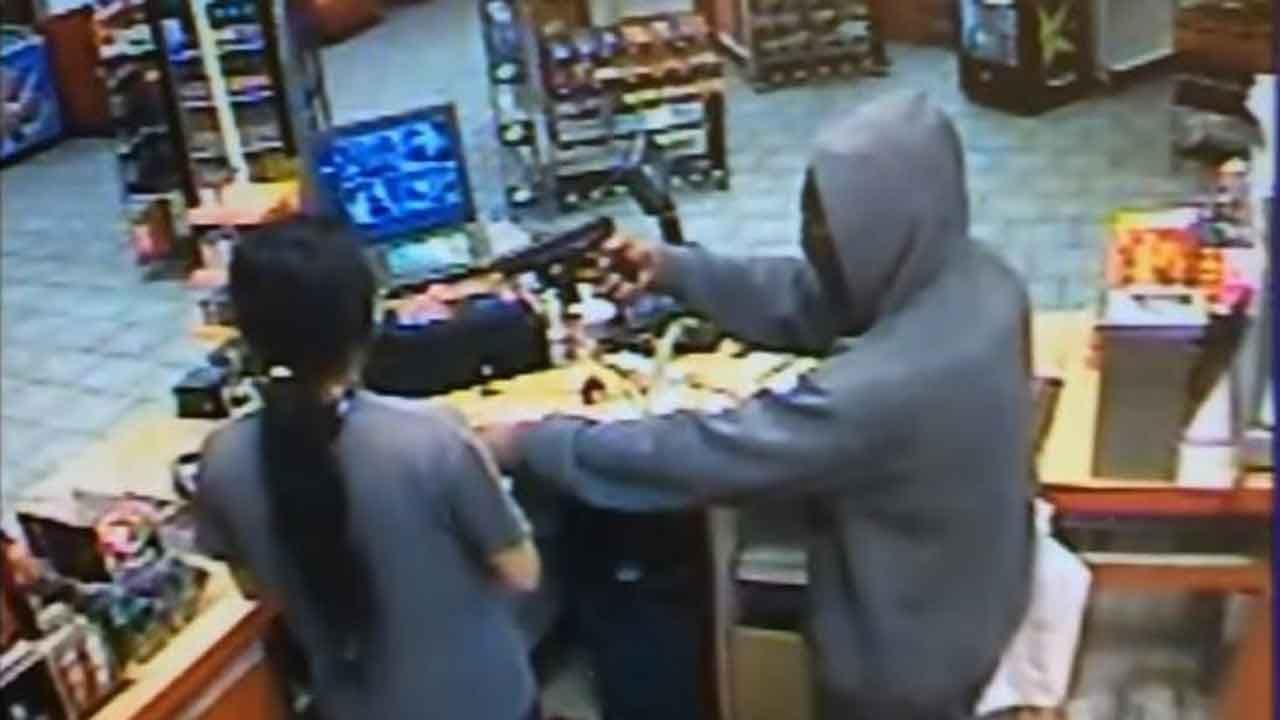Armed Robber Holds Up NE OKC Gas Station