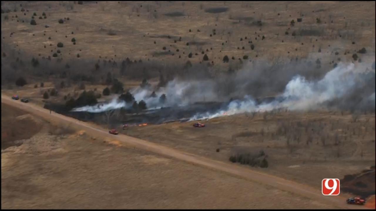 Crews Respond After Wildfire Flares Up Northwest Of Edmond