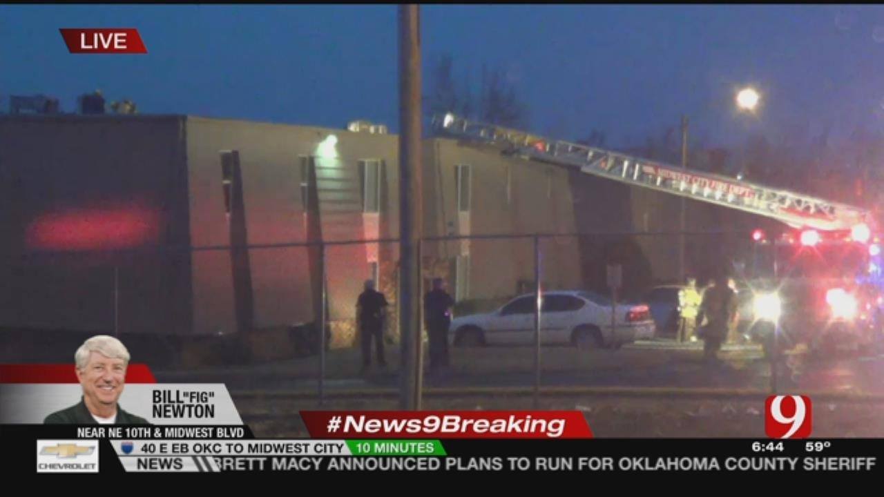 MWC Apartment Complex Catches Fire Early Tuesday