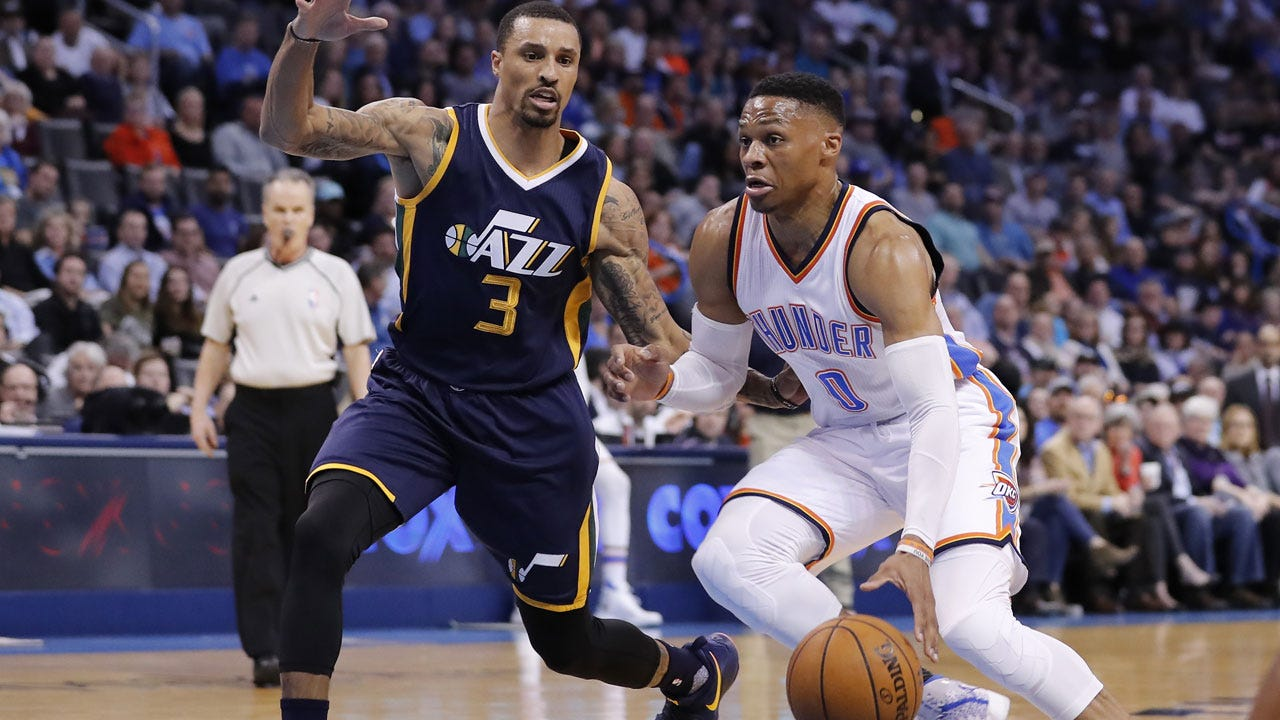 Russell Westbrook's Heroics Lift Thunder Past Jazz For Fourth-Straight Win