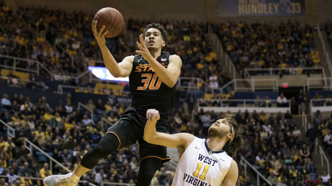 Forte Helps Oklahoma State Top No. 7 West Virginia 82-75