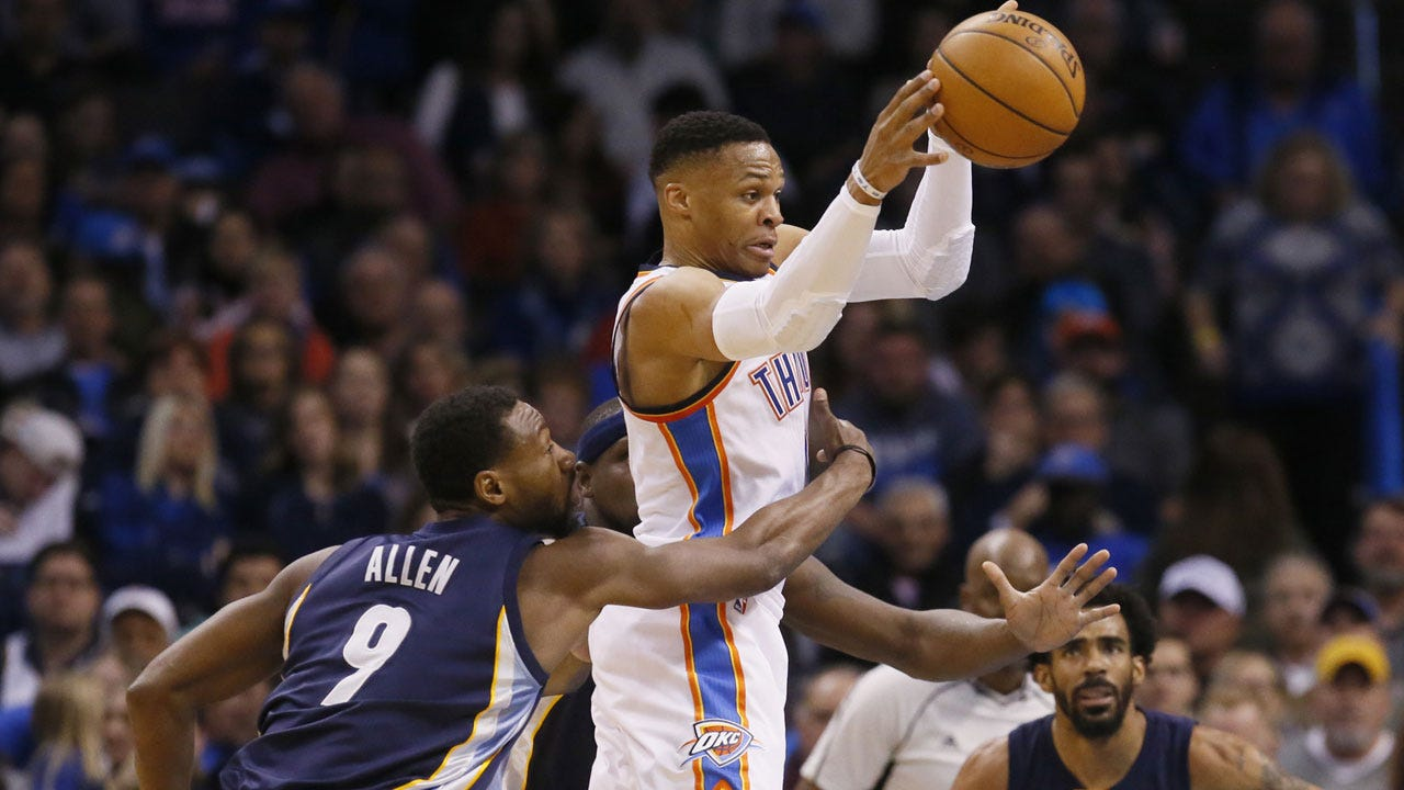 Westbrook's Late-Game Heroics Lead Thunder Past Grizzlies