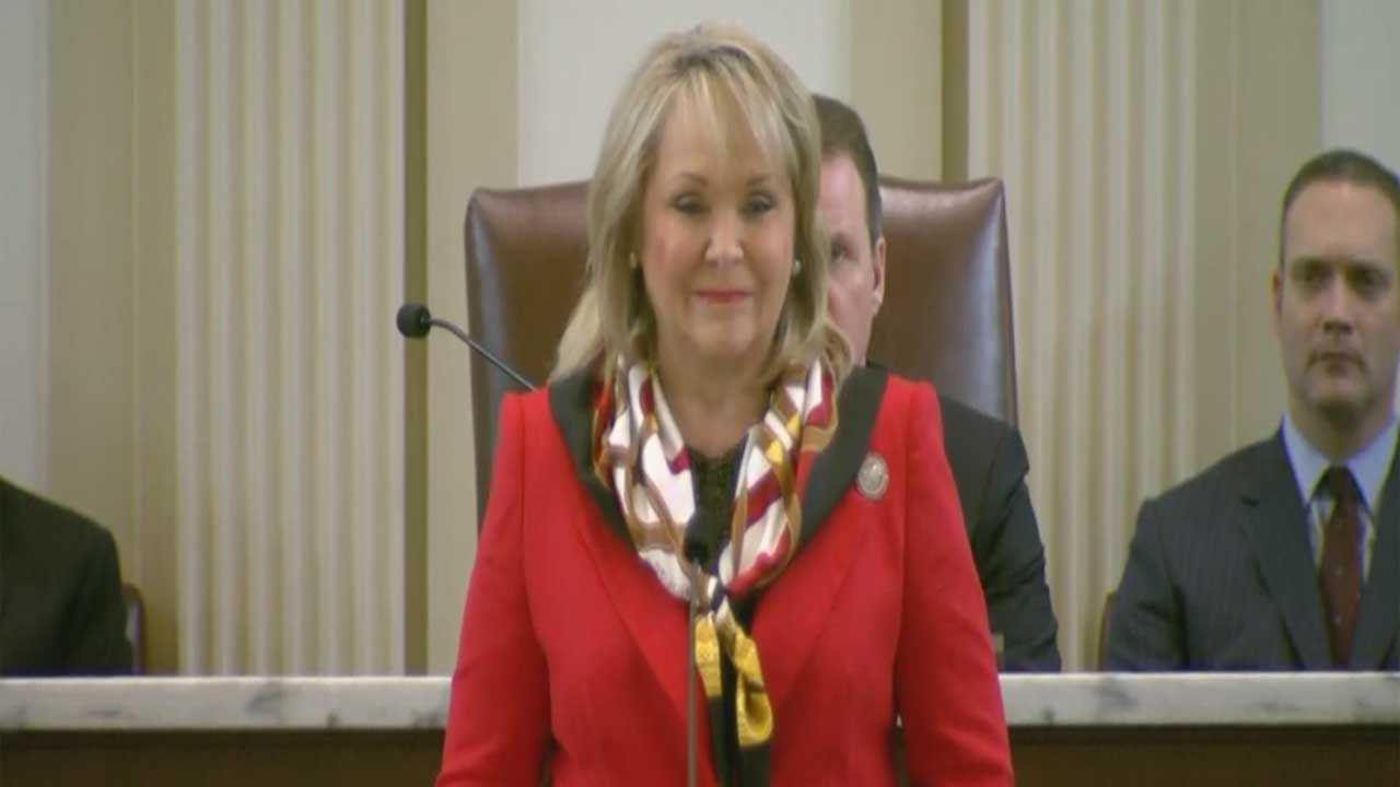 Gov. Fallin Rolls Out Her Budget Plan During State Of The State Address