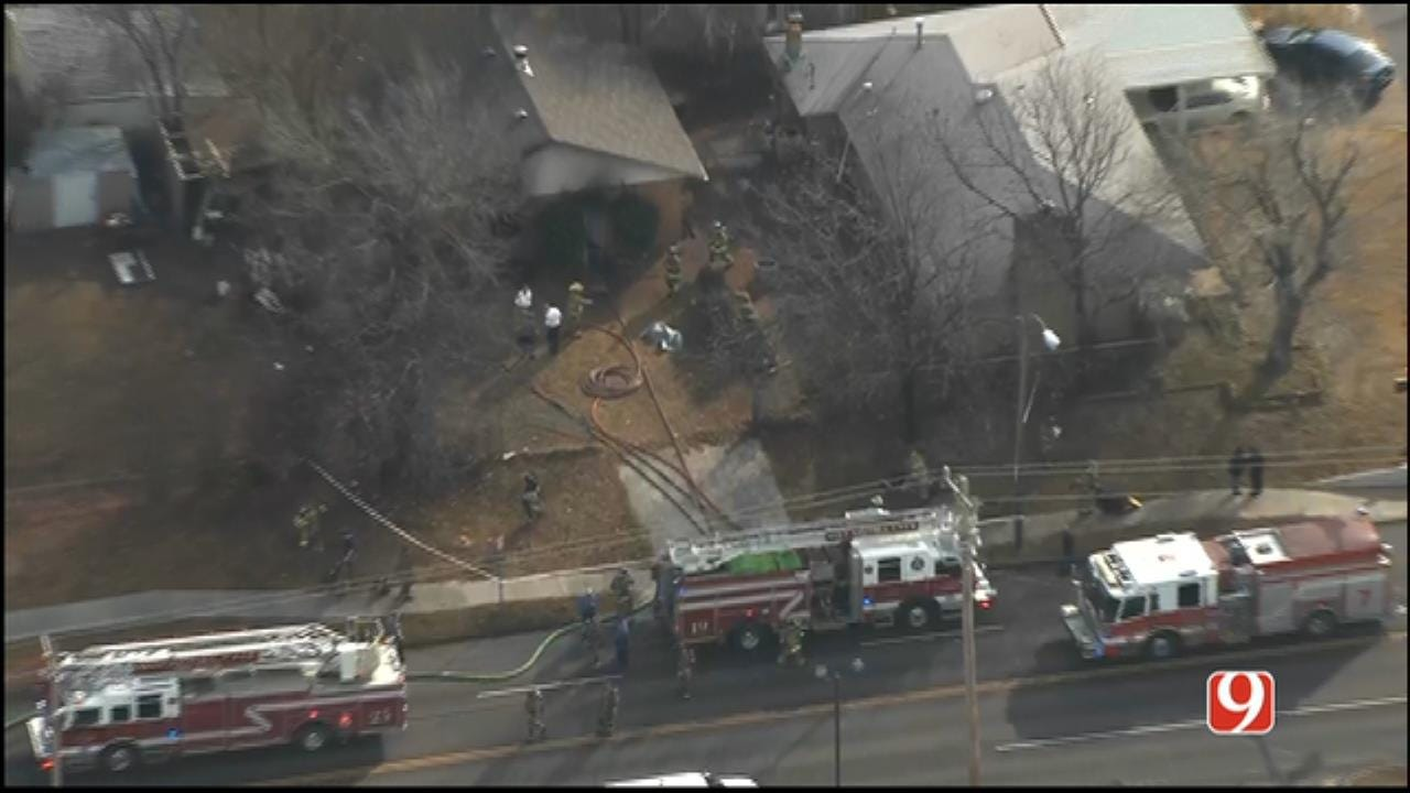 OKC Police: Woman Dead At Scene Of House Fire