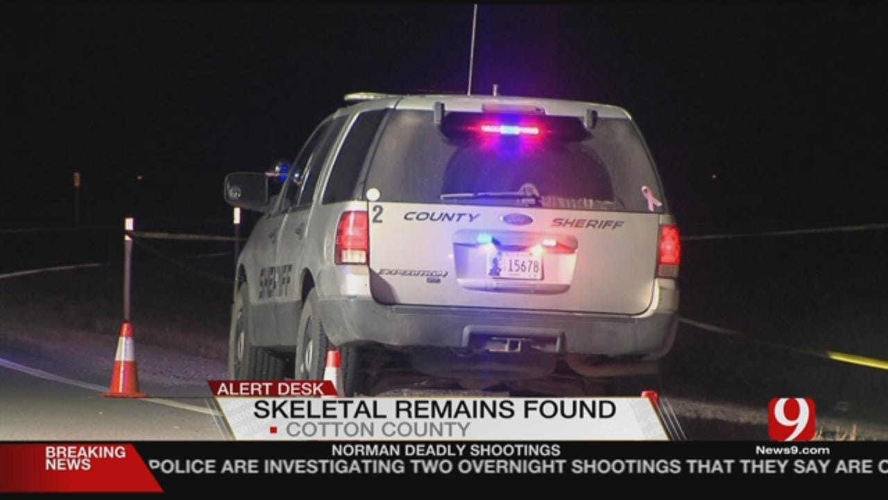 Cotton County Sheriff's Office Look To ID Remains Found On Tuesday