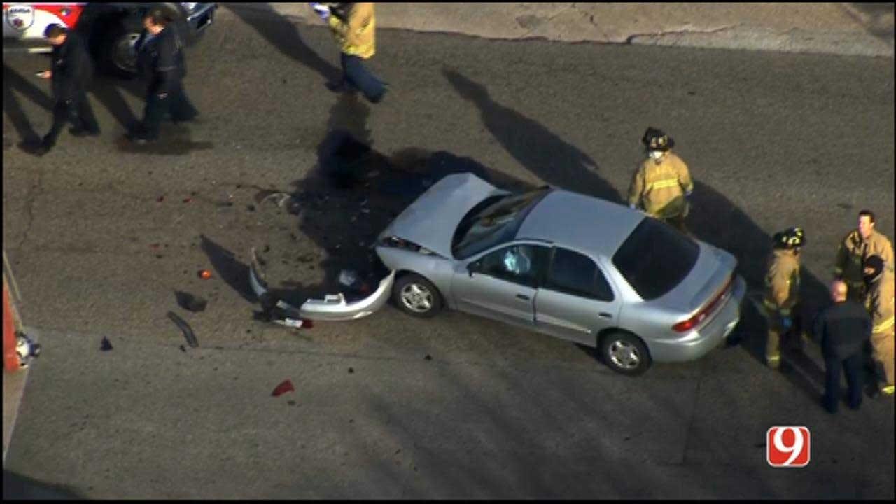 Emergency Crews Respond To Car Crash In SW OKC