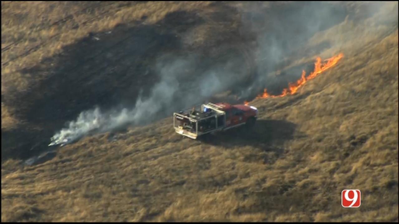 Crews Battle Wildfire North Of Yukon