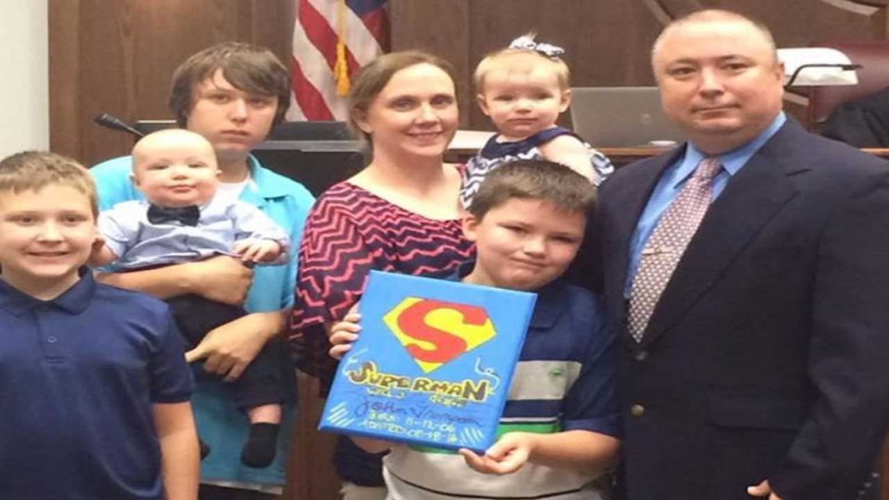 Poteau Officer Adopts 8-Year-Old He Saved From Severe Child Abuse