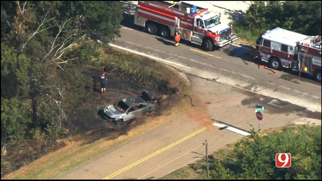 OKC Police Now Say Fiery Crash Is A Homicide