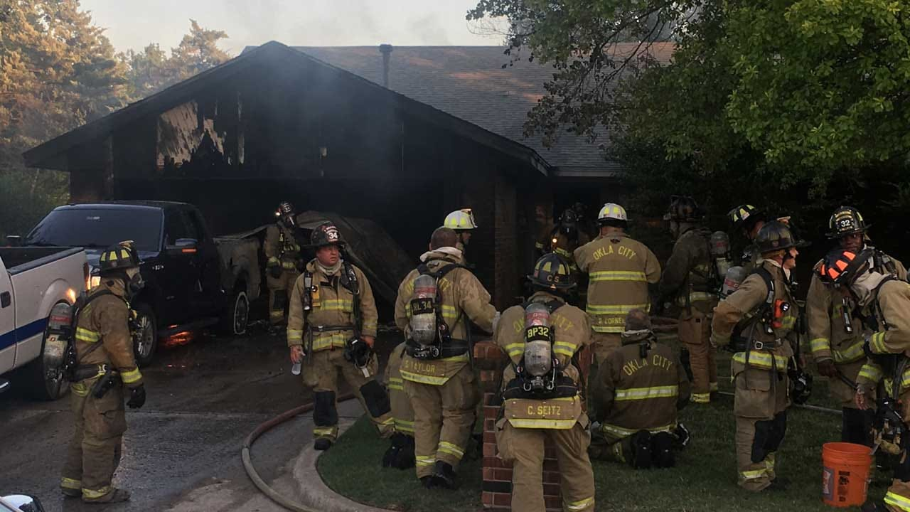 Two Injured In NW OKC House Fire