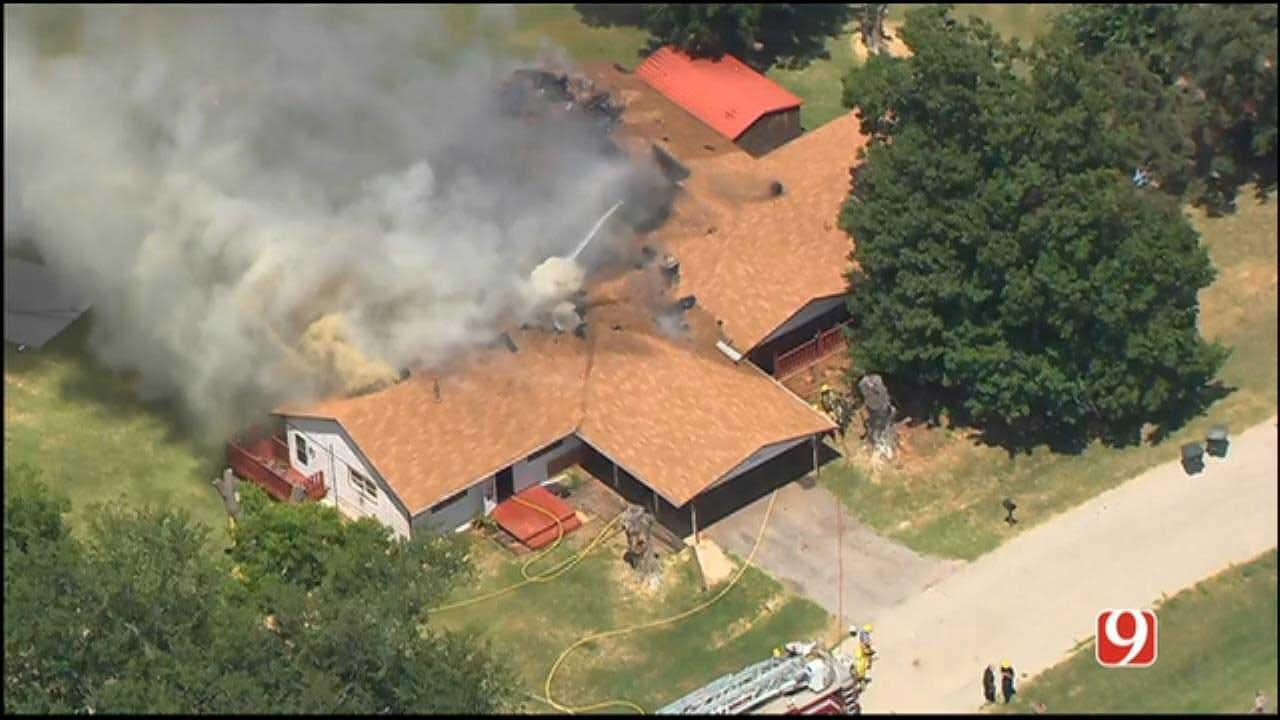 Crews Battle Edmond House Fire