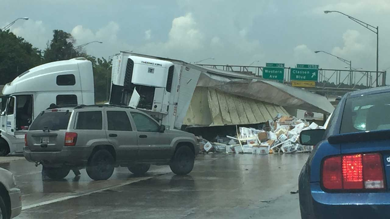 Traffic Backed Up After Crash Blocks Eastbound I-44 In NW OKC