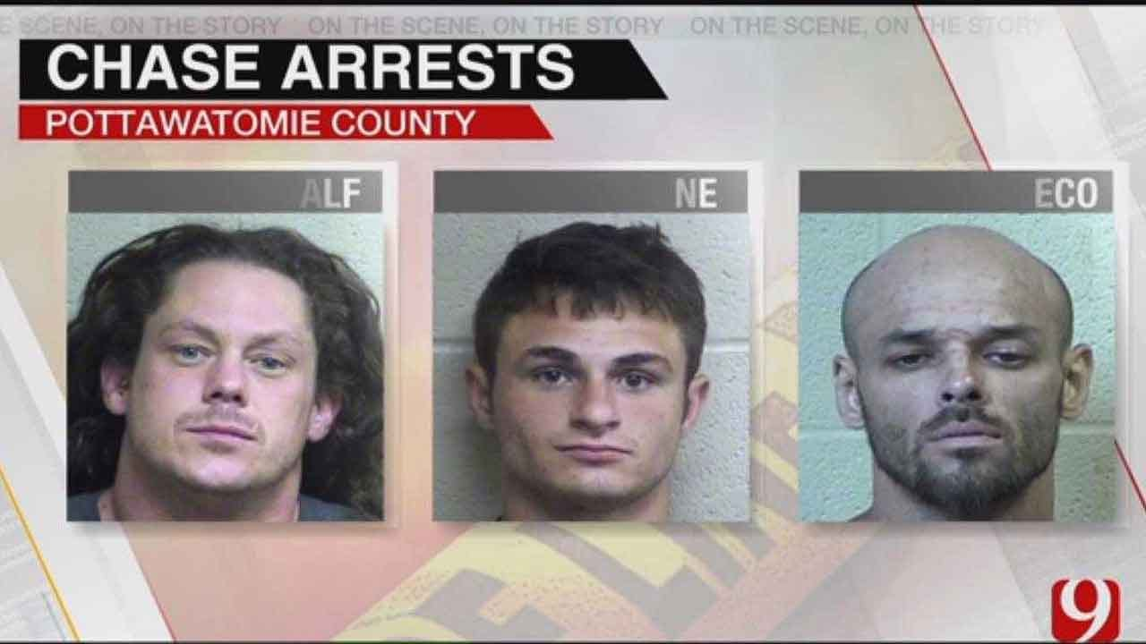 Chase Suspects Arrested In Pottawatomie County