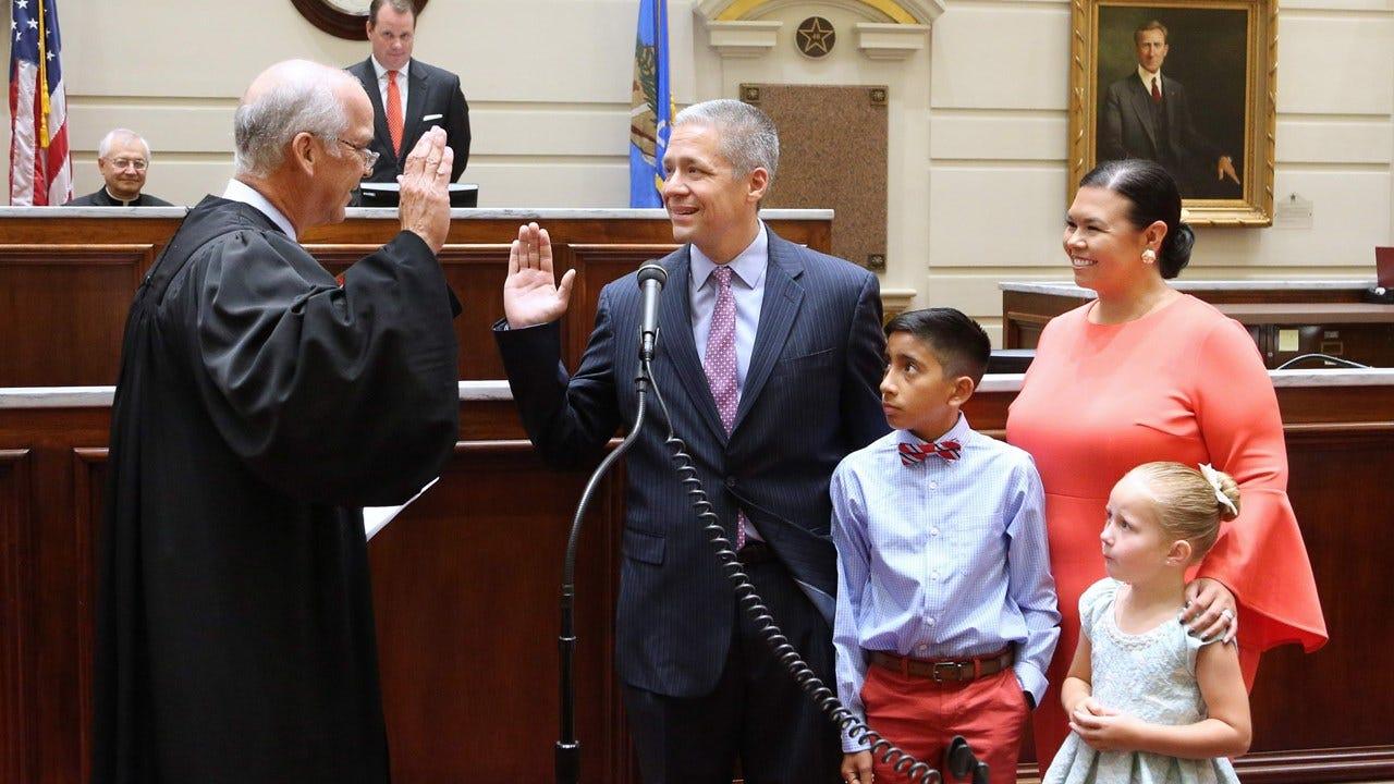 Michael Brooks Sworn In As Dist. 44 Senator