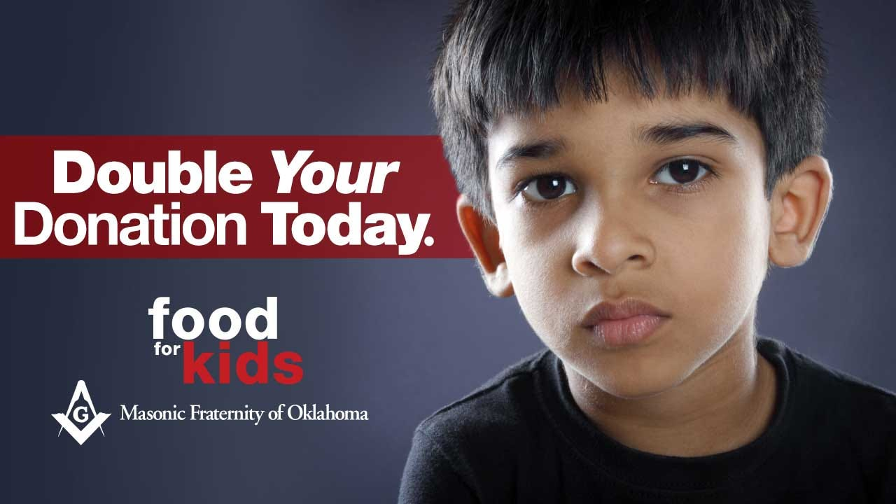 Masonic Fraternity Of Oklahoma Matching Food For Kids Donations