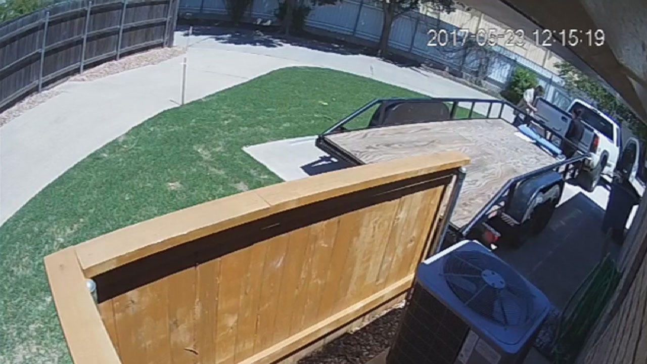 Thieves Caught On Surveillance Stealing Trailer From Bethany Home