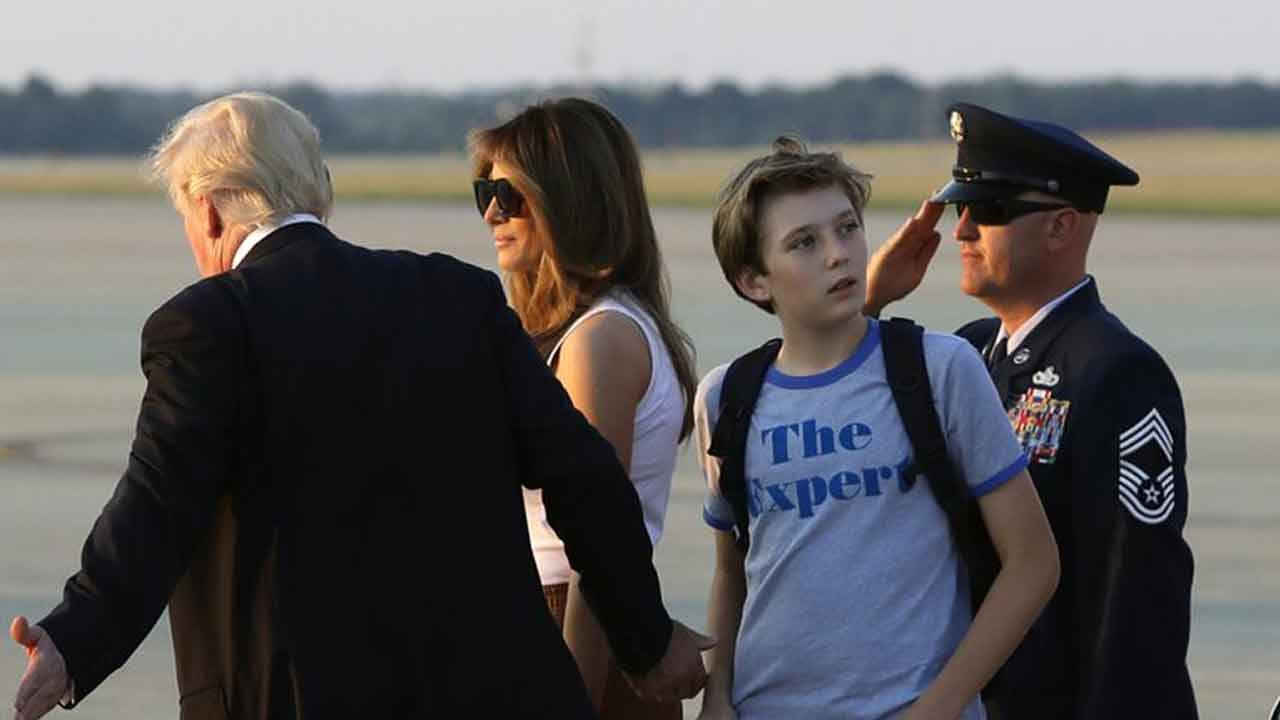 First Lady, Son Barron Move Into The White House