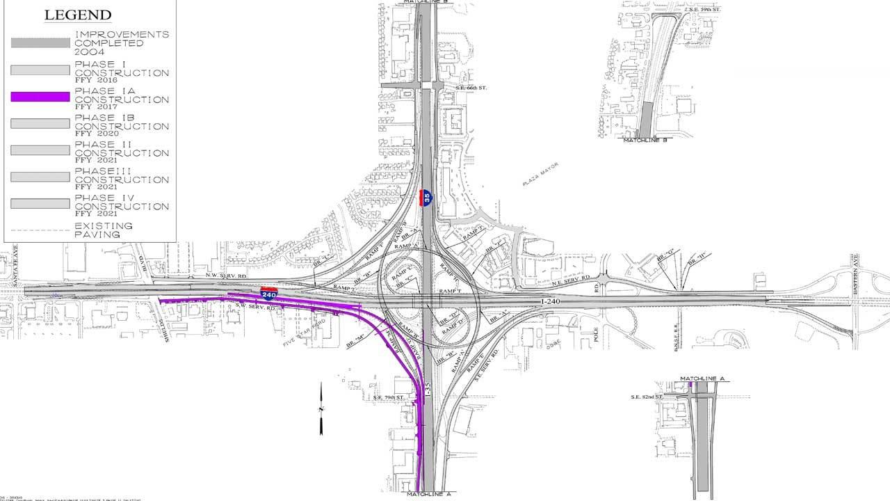 ODOT Project Begins Monday At I-35/I-240 Interchange