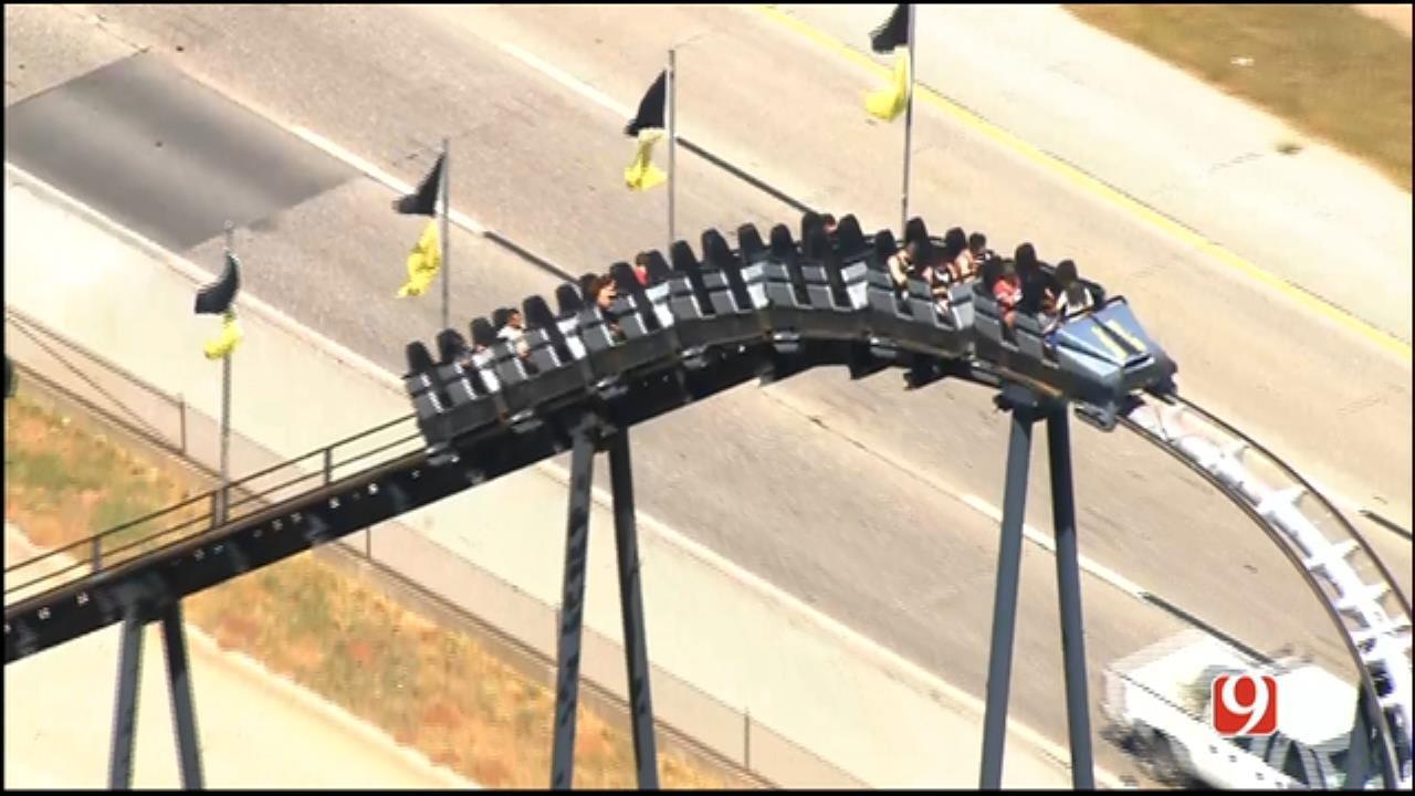 Frontier City's Silver Bullet Roller Coaster Stuck Again